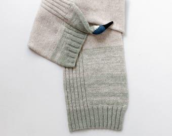 hummingbird scarf, small singing bird, handmade birthday gift from lambswool
