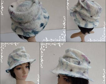 Felted wool hat style trilby revisited
