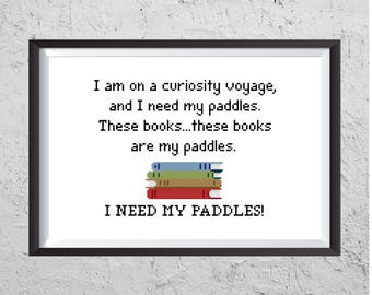 I Need My Paddles! - Stranger Things 2 Inspired Cross Stitch PDF - Instant Download