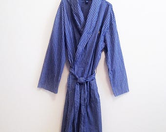 Blue Ralph Lauren Robe - One Size / Large XL - Lightweight Cotton Robe
