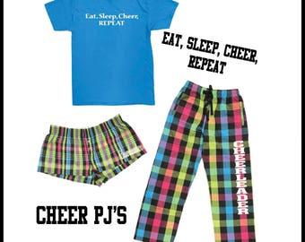 Eat, Sleep, Cheer, REPEAT Cheerleader Pajamas