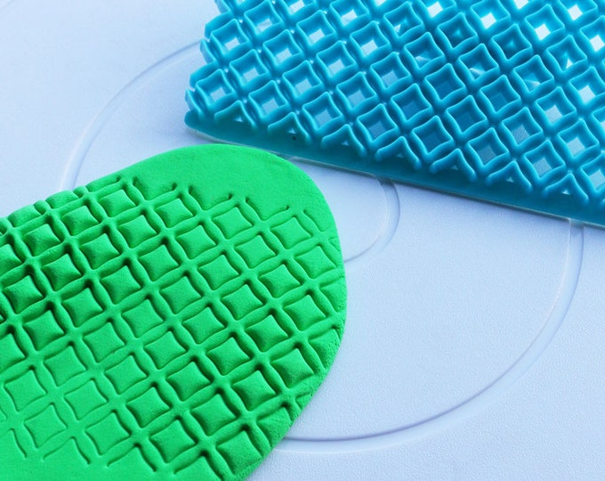 Diamond Square Fondant Embosser Cake Cookie Cutter Imprint Set - E832