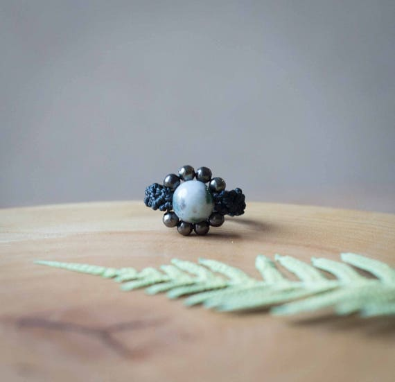 Elven black ring