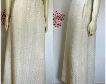 Vintage Maxi Skirt   Long Skirt   White Maxi Skirt   Knit Skirt   Long White Skirt   Knit Maxi Skirt   White Knit Skirt   Wedding Skirt