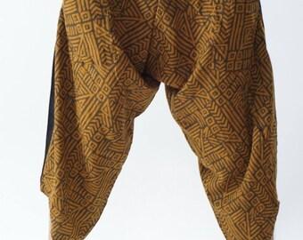 HC0533  Samurai Pants, Samurai Pants (Unisex) Elastic Waist ,Wrap pants