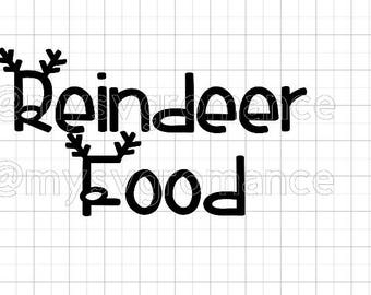Reindeer Food SVG - Reindeer Antlers - Rudolph Nose - Cutting File - Cute Font - Cricut - Cameo
