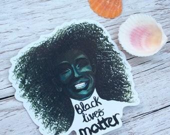 Black Lives Matter vinyl sticker  *blm * #blacklivesmatter * civil rights  * activism * black girl magic * Khoudia Diop *