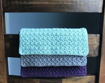Crochet Washcloth Set - Housewarming Gift - Crochet Dishcloths - Modern Kitchen Decor - Kitchen Towels - Knit Dishcloth - Cotton Dishcloth