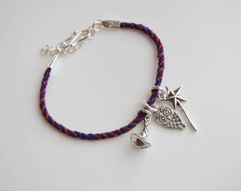 Ravenclaw Harry Potter Inspired Charm and Friendship Bracelet