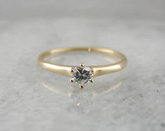 Vintage Classic Diamond Solitaire Engagement Ring, Diamond Engagement Ring, Vintage Diamond Ring, Diamond Solitaire VE81J3-P