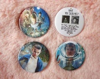 Stranger Things Eleven El Demogorgon Sci Fi 80s Hawkins Pin Badge