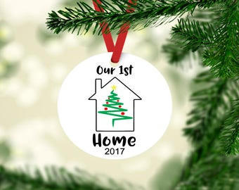 Our First Home ornament, 1st christmas ornament, new nome ornament, our new home keep ornament, housewarming gift, newlywed christmas gift
