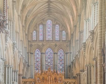 Ely Cathedral - Print on foam baord - Laminated - Solid Ash Frame