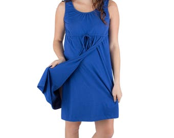 Sapphire Blue Maternity Labor Delivery Nursing Gown 3 in 1 Baby Be Mine Maternity Birthing Hospital Gown Ready To Ship