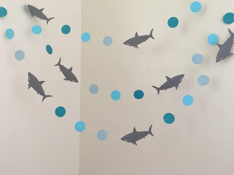Shark Birthday Decorations Shark Baby Shower Decorations Shark