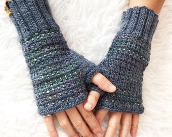 Merino Wool Knit Fingerless Mitts, Knitted Fingerless Mittens, Fingerless Gloves, Mitts, Mittens, Super Soft Fingerless Mitts