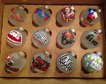 Hand Painted Ornaments, Ornaments Personalized