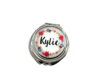 Name mirror - Bridesmaid Mirror Compacts - Personalized Bridesmaid Gifts - Unique Bridesmaid Compact Mirror - Personalized Gifts for Women
