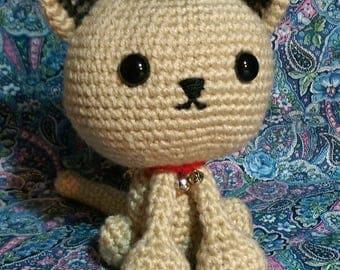 Amigurumi Kallie the Kitty - MADE TO ORDER - crochet kitten - crocheted kitty