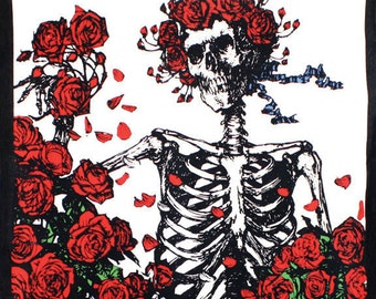 Skull & Roses Grateful Dead Tapestry 60 x 90 wall hanging