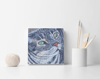 Custom cat portrait Custom cat painting Personalized pet portrait Custom portrait Made to order Pet painting Cat lovers gift Cat art