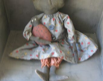Primitive Blck Doll with Ladybug