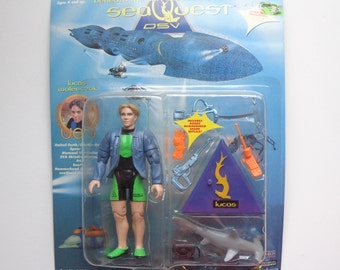 90s Collectible SeaQuest DSV Lucas Wolenczak Action Figure Toy by Playmates New in Package from 1994 TV Show Character Collection