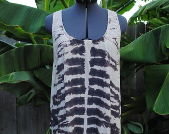 Ladies Tank with Dyed Print // Women's Size Large
