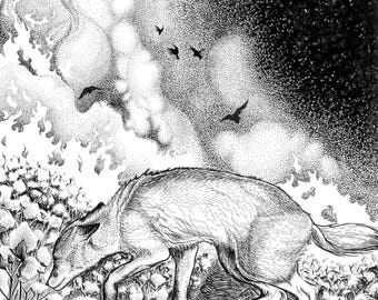 October Embers Pt. 1, Fine Art Giclee Print, 11x14