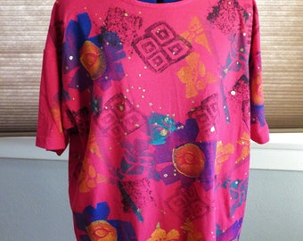 90s EZL painted shirt
