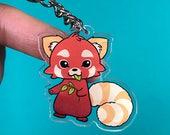 Adorable Acrylic Keychain, Red Panda, Firefox, Armadillo, Cat by Neophobica
