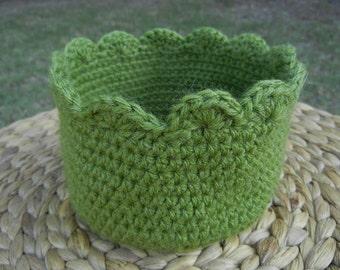 Handmade Scalloped Crochet Basket