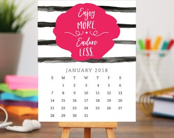 Quotes 2018 Calendar Interesting Printable 2018 Desk Calendar 12 Month Inspirational And