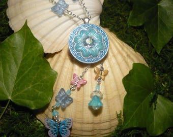 Cinderella's Dance- handmade Necklace with Butterflies - Cinderella - Disney Princess