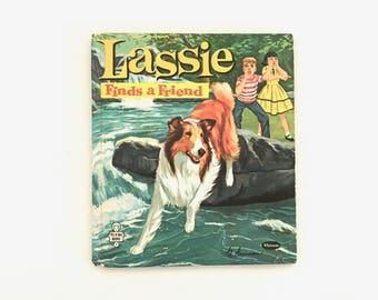 Vintage Book - Lassie Finds A Friend - Tell A Tale Books - 1960 Vintage Children's Collectible