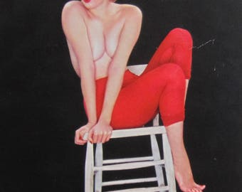 1950's Sexy Pinup The Best Laid Plans Of Mice & Men Calendar Art Print - Free Shipping