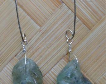 BONFIRE seaglass earrings on sterling silver