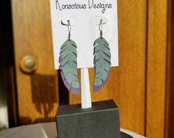 Jungle Paradise Feather Earrings (Medium)