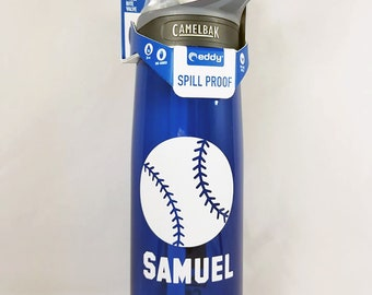 Personalized .75L Camelbak Bottle - Baseball & Name - Can Be Customized - Water Bottle - Hydrate - Custom - Bottle - Hydrate - Bite Valve