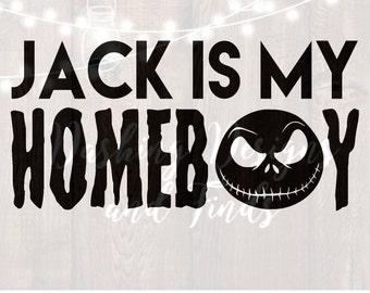 DIGITAL DOWNLOAD svg png jack nightmare before christmas halloween silhouette cricut cutting file vinyl HTV boy girl shirt print