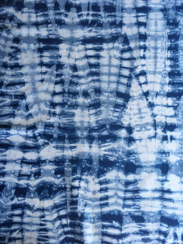 Indigo Shibori Fabric Hand Dyed Fabric From