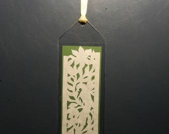 Pennsylvania Dutch Distelfink Scherenschnitte Bookmark