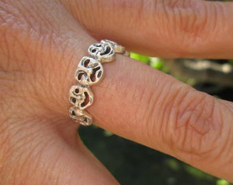 Sterling Silver Comedy and Tragedy Ring  Size 9