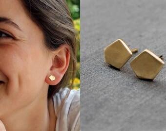 Geometric Earrings gold, minimalist earrings geometric gold, earrings Geometric Earrings gold, nuggets Earrings, earrings gold geometric
