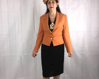 Ann Tjian for Kenar Orange Jacket