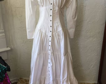 Westworld Dolores Costume or Western 1990s Dress Costume Sz 6-10