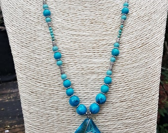The Ocean Goes On Forever Beaded Necklace