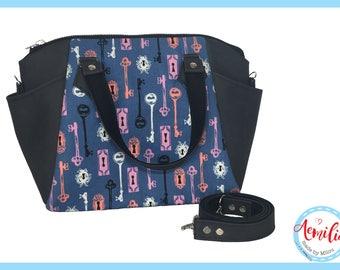 Annette handbag, sleutels, halloween, slot, sleutelgat, handmade, swoon,