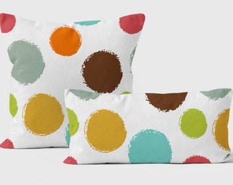 Throw Pillow Covers, Pillow For Couch, Sofa Cushions, Accent Pillow For Nursery,  Kids Throw Pillow, 18x18, Blue, Orange, Brown Pillowcase