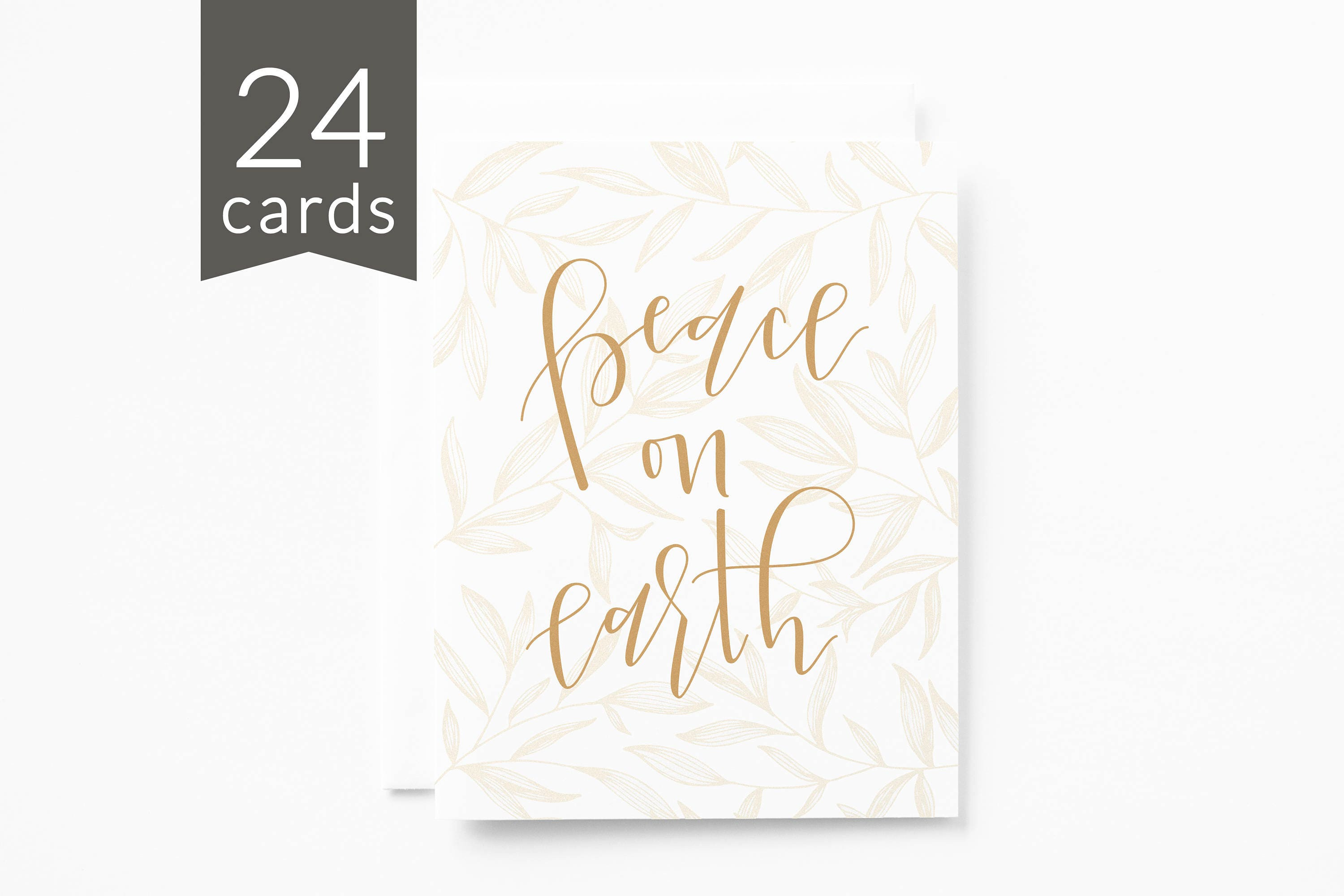 christmas card set of 24 illustrated peace on earth holiday card